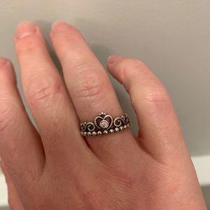 Pandora Princess Tiara Crown ring  size 6